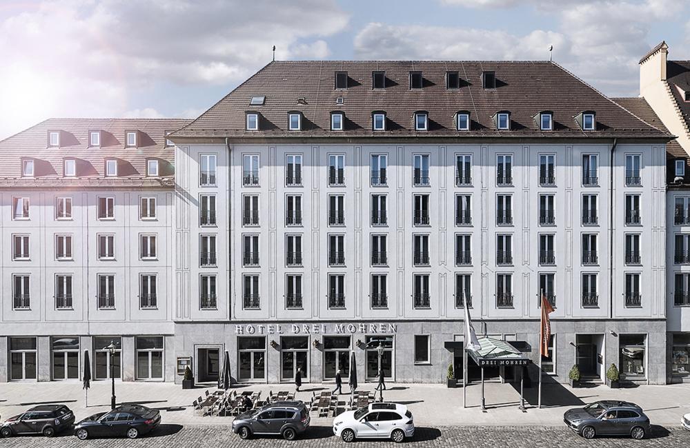 Architekturaufnahme Außenansicht Hotel Drei Mohren Augsburg